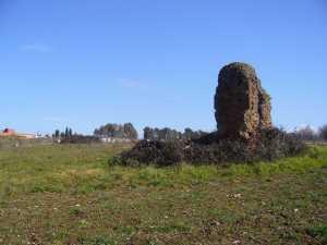 Villan jäänteitä Rooman pohjoispuolella