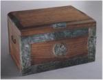 Lukittava säilytyslaatikko Pompejin Menandroksen talosta (puuosat rekonstruoitu).