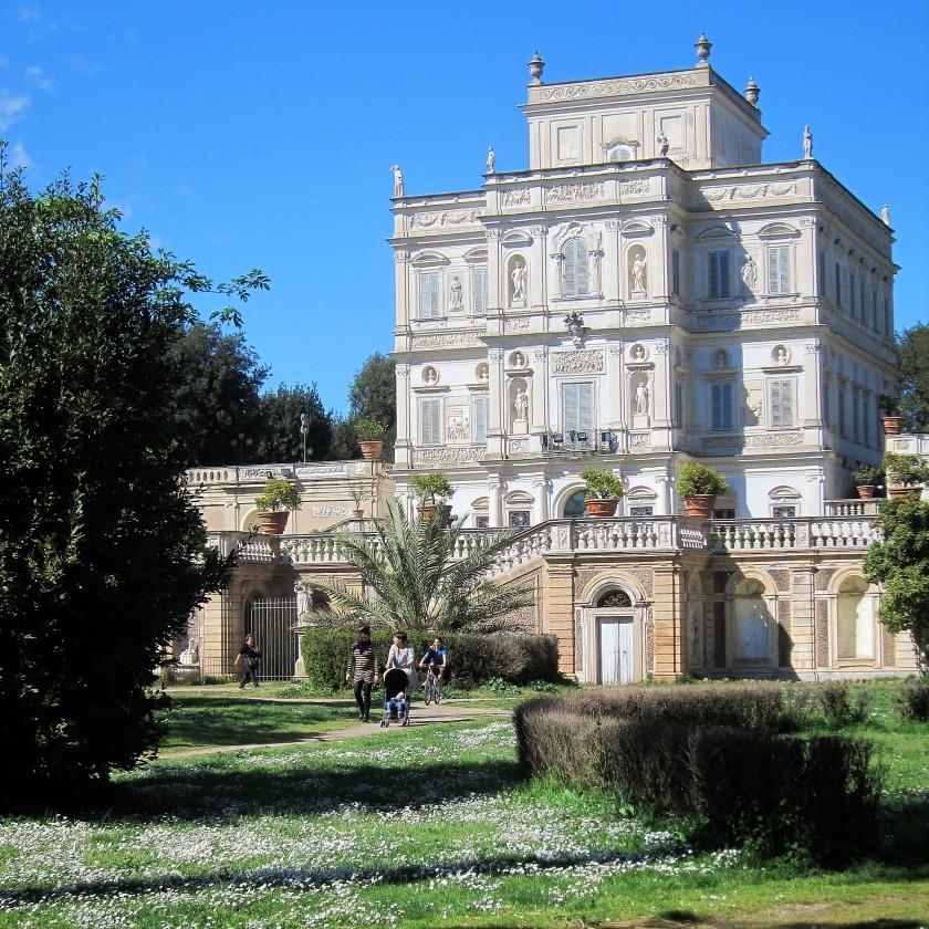 Villa Doria Pamphilj maaliskuun lopulla