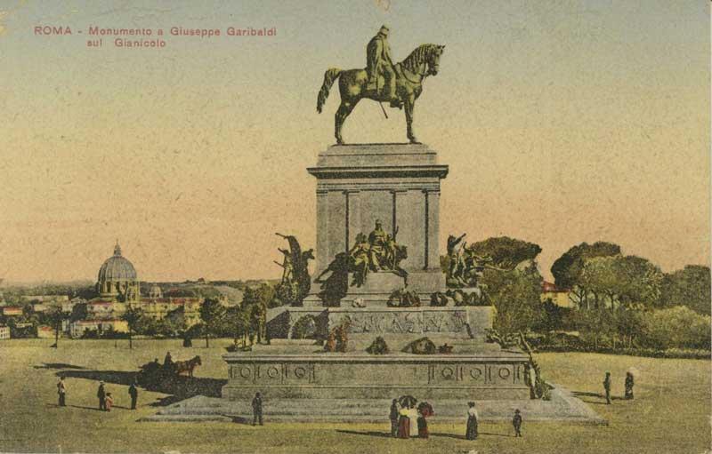 Vanha postikortti patsaasta