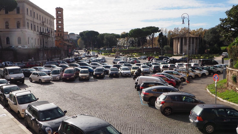 Forum Boarium parkkipaikkana
