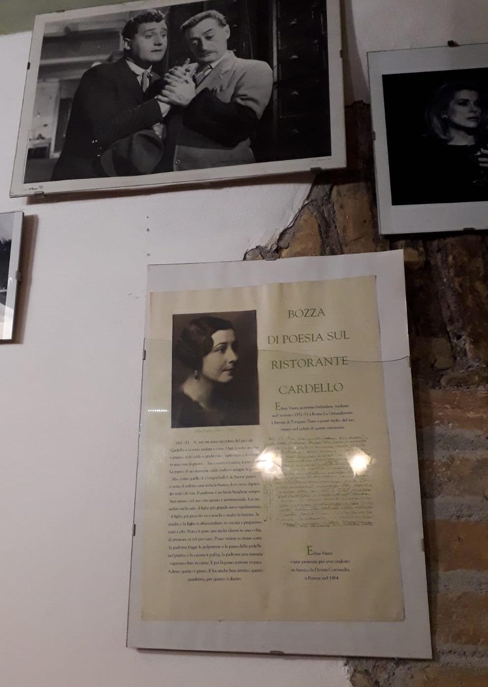 Elina Vaaran kuva ravintolassa